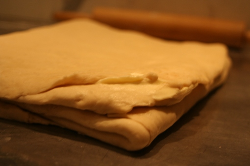 The finished laminated dough