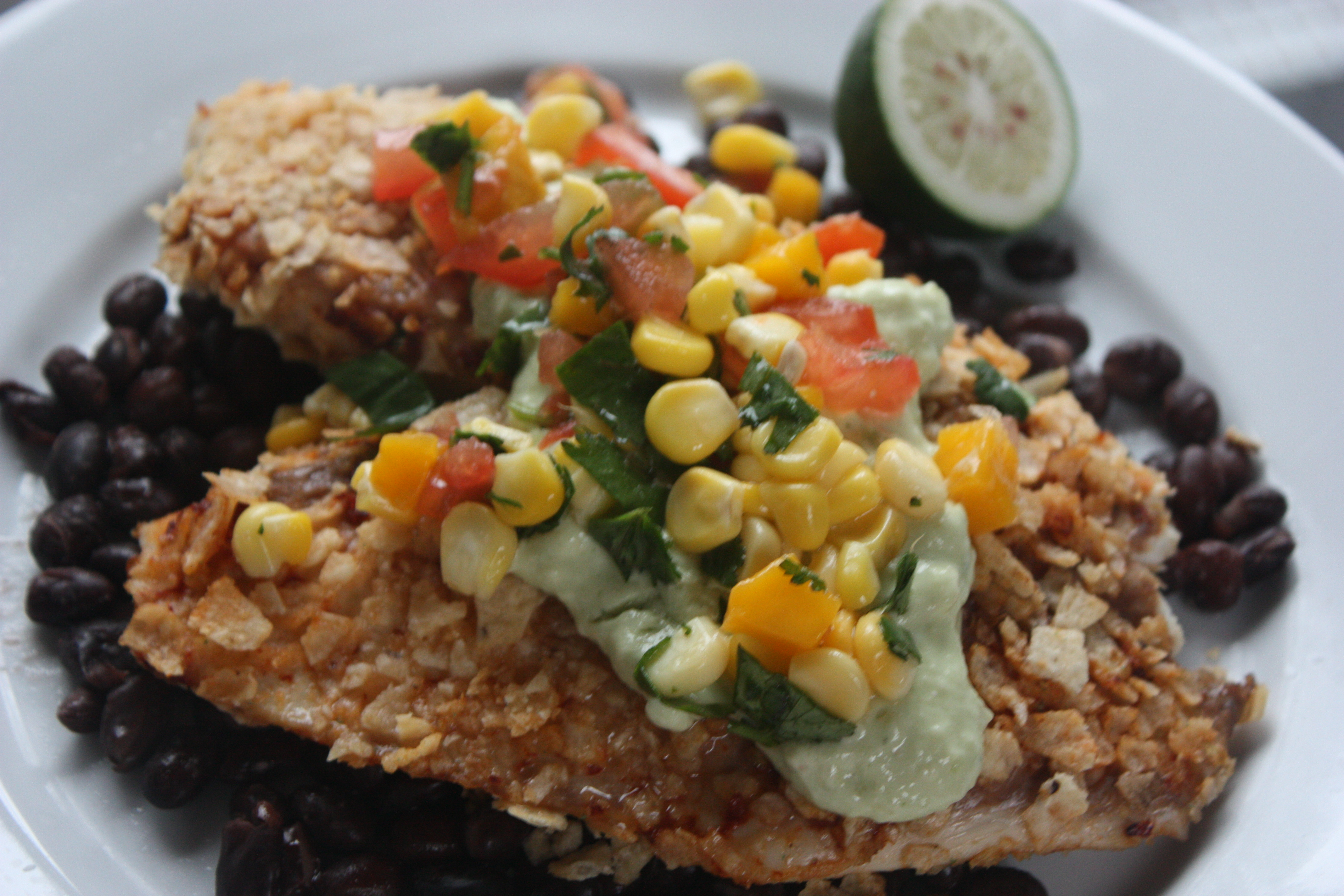 Crispy Chipotle Lime Tilapia with Cool Avocado Sauce | Experiments ...