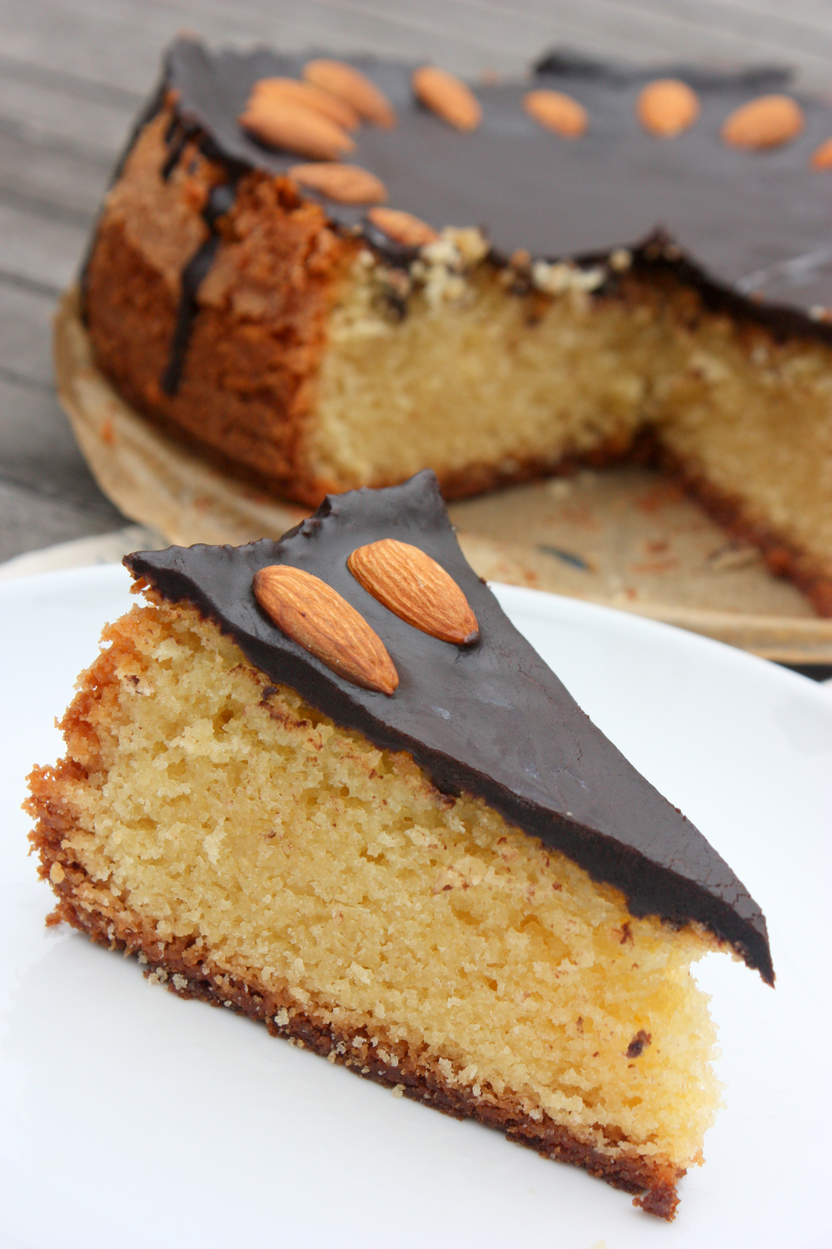 Almond Cake with Chocolate Ganache Experiments from a ...